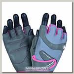 Перчатки женские Klaudia 93 MFG930 - серо-розовые