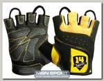 Перчатки черно-желтые